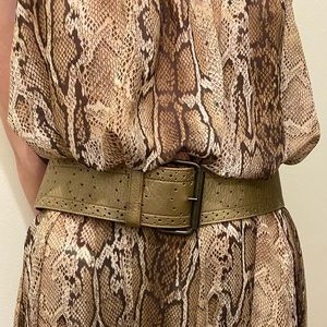 Catherine Malandrino Bronze Leather Belt
